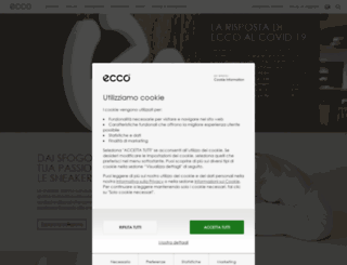 it.ecco.com screenshot