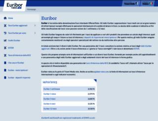 it.euribor-rates.eu screenshot