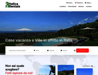 it.italicarentals.com screenshot