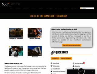 it.nku.edu screenshot