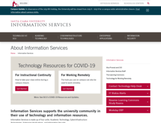 it.scu.edu screenshot