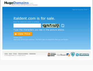 italdent.com screenshot