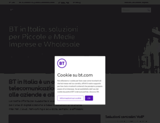 italia.bt.com screenshot