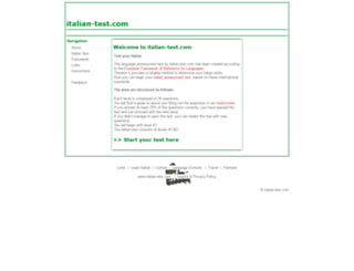 italian-test.com screenshot