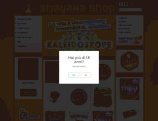 italian.shayanashop.com screenshot