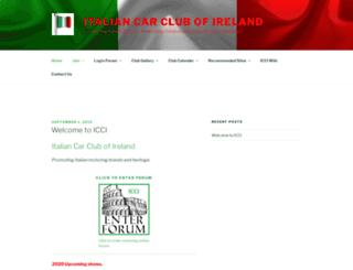 italiancarclubireland.com screenshot