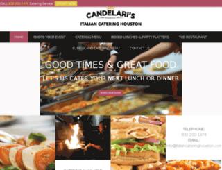 italiancateringhouston.com screenshot