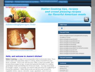 italiancookingtipsrecipes.com screenshot