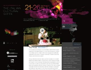 italianculturalweek.org screenshot