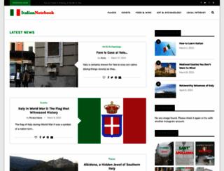 italiannotebook.com screenshot