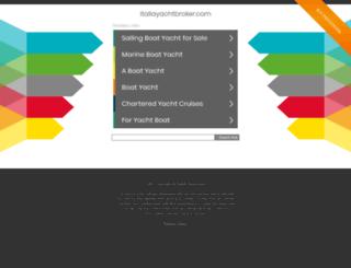 italiayachtbroker.com screenshot