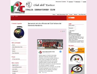 italiazebravinkenclub.it screenshot