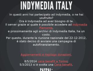 italy.indymedia.org screenshot