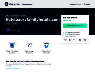 italyluxuryfamilyhotels.com screenshot