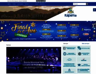 itapema.sc.gov.br screenshot