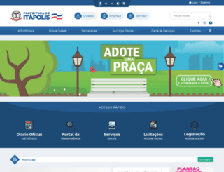 itapolis.sp.gov.br screenshot