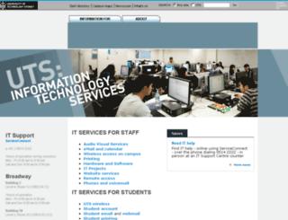 itd.uts.edu.au screenshot
