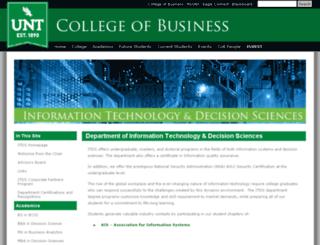 itds.unt.edu screenshot