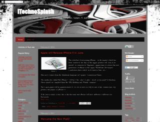 itechnosplash.blogspot.com screenshot
