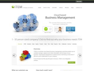 itemise.net screenshot