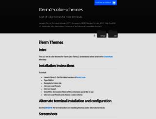 iterm2colorschemes.com screenshot