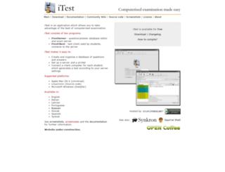 itest.sourceforge.net screenshot
