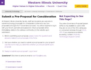 itgovernance.wiu.edu screenshot