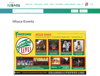 ithacaevents.com screenshot