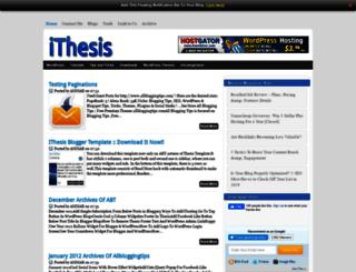 ithesistheme.blogspot.com screenshot