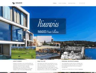 itineraries.paradizo.com screenshot