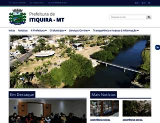 itiquira.mt.gov.br screenshot