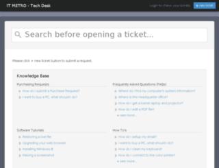 itmetro.mojohelpdesk.com screenshot