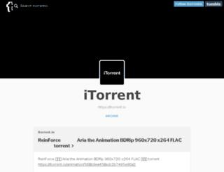 itorrentio.tumblr.com screenshot