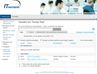 itpartners.webex.com screenshot
