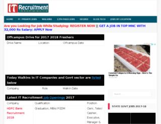 itrecruitment.co.in screenshot