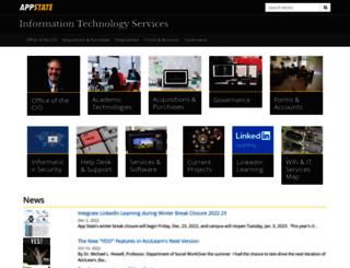 its.appstate.edu screenshot