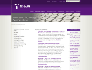 its.truman.edu screenshot