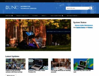 its.unc.edu screenshot