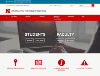 its.unl.edu screenshot