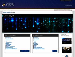 its.uwa.edu.au screenshot
