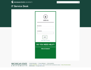 itservicedesk.msu.edu screenshot