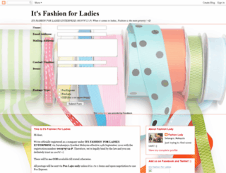 itsfashionforladies.blogspot.com screenshot