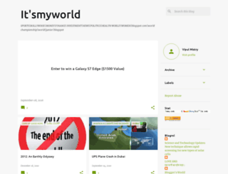 itsmyworld2007.blogspot.com screenshot
