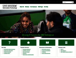 itss.untsystem.edu screenshot