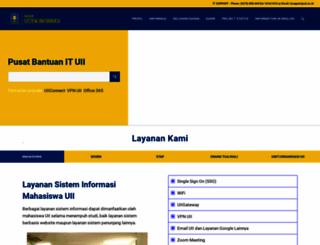 itsupport.uii.ac.id screenshot