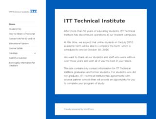 itt-tech.edu screenshot