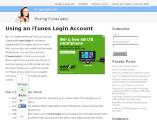 itunes-login.net screenshot