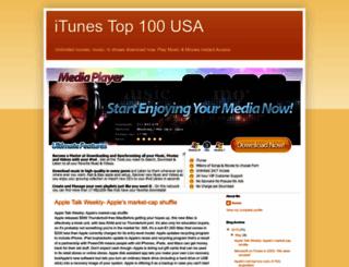 itunes-top-100-usa.blogspot.com screenshot