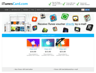 itunescard.com screenshot