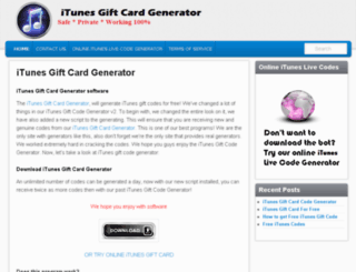 itunesgiftcardsgenerator.net screenshot